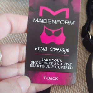 Maidenform Intimates & Sleepwear - NWT Maidenform T Back Black Bra Size 36D
